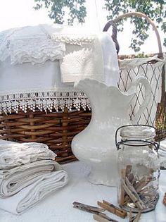 white vintage decor, so pretty and elegant