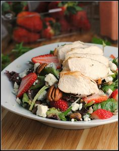 Strawberry Chicken Salad with Strawberry Vinaigrette