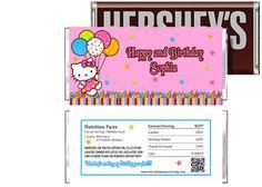Hello Kitty Birthday Candy Bar Wrapper