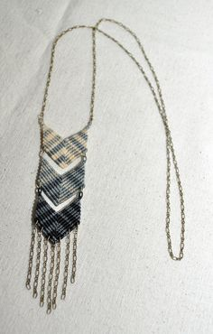 Triple Chevron Fade Necklace by AMiRAjewelry on Etsy