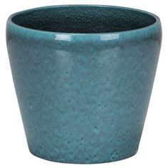 Cache-pot terre cuite émaillée SCHEURICHDiam.19.7 x H.17.8 cm bleu