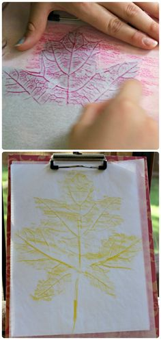 Ramp up your leaf prints this year with these creative twists and cool materials! #autumn