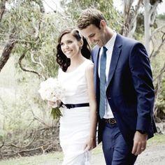 Clare & Matt's Modern Indoor Wedding – Bride & Groom