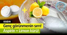 Genç Görünmenin Sırrı Aspirin ve Limon Fast Weight Loss, Healthy Weight Loss, Healthy Cooking, Cooking Tips, Fast Walking, Aspirin, Diy Skin Care, Beauty Skin, Pilates