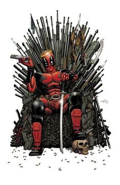 Game of… Deadpool? by Ian Navarro <-- Yeah. Joffrey would be dead basically immediately… Deadpool for King!<--Everyone who dislike Deadpool as a king would be dead immediately Comic Book Characters, Marvel Characters, Comic Character, Comic Books Art, Comic Art, Marvel Villains, Dead Pool, Bd Comics, Marvel Dc Comics