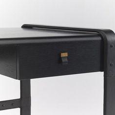 Cliff House Leather-Wrapped Desk - Desks - Furniture - Products - Ralph Lauren Home - RalphLaurenHome.com