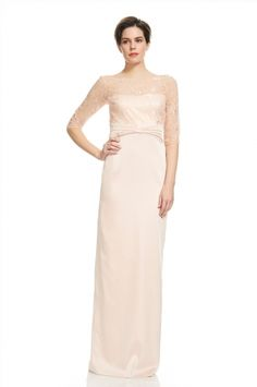 Lovely Lace and Satin Evening from KAY UNGER