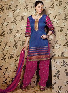 Gorgeous blue #patiala #suit