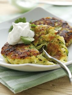 Zucchini Fritters with Greek Yogurt