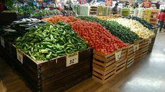 Supermarket fruit & veg.