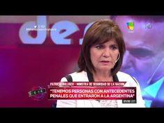 """""""Tenemos personas con antecedentes penales que entraron a la Argentina"""""""