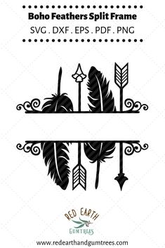 Arrows and feathers split monogram frame in SVG,DXF,PNG,EPS compatible with most cutting machines including major brands such as Cricut and Silhouette Cameo/ Portrait/ Curio. Silhouette Cameo, Silhouette Projects, Silhouette Design, Vinyl Crafts, Vinyl Projects, Cricut Vinyl, Vinyl Decals, Vinyl Art, Wall Decals