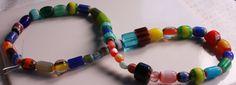 Glass Bead Chevron Multi Colored 6x5  13 x 12 mm by designjuncture, $3.25
