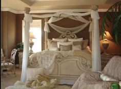 Romantic country bedrooms decoration idea romantic room ideas are a perfect choice luxury home decor, Romantic Country Bedrooms, Romantic Bedroom Lighting, Romantic Bedroom Design, Bedroom Designs For Couples, Romantic Room, Beautiful Bedrooms, Romantic Ideas, Romantic Homes, Woman Bedroom