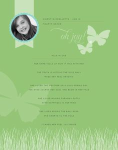 HM Poetry Poster - Spring  designed by: Roxanne Buchholz  11x14 Poster  Template ID: 56427