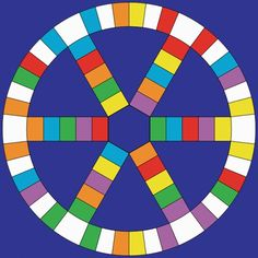 Blank Trivial Pursuit board.                                                                                                                                                      More