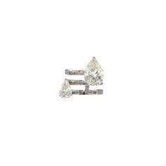 Repossi Serti sur Vide ring in white gold with two pear diamonds, price upon requestFor information: repossi.com