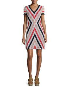 Short-Sleeve+Crochet+Dress+by+Tory+Burch+at+Neiman+Marcus.