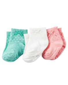 Baby Girl 3-Pack Booties | Carters.com