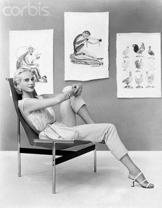 Patsy Pulitzer Reclining in Chair