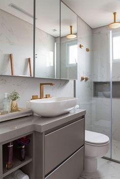 Ideas bathroom shower decor ideas layout for 2019 Modern Bathroom, Small Bathroom, Master Bathroom, Bathroom Ideas, Toilette Design, Mini Bad, Diy Rangement, Dream Bathrooms, Cuisines Design