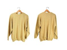 Medium Metallic Gold Pullover Sweater // by IntertwinedVintage