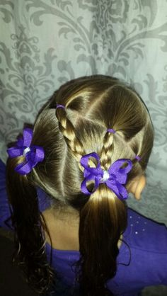 3 braids into pigtails  ♡