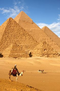 The Pyramids of Giza in Egypt are a UNESCO World Heritage Site.