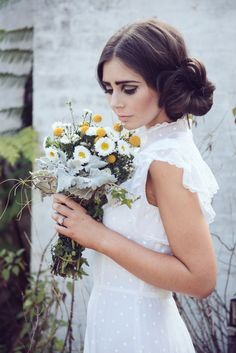 Side bun wedding hairstyle