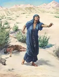 Hagar and Ishmael Genesis 21 Bible Pictures, Jesus Pictures, Christian Women's Ministry, Bible Timeline, Bible Illustrations, Worship The Lord, Biblical Art, Bible Knowledge, Archangel Michael