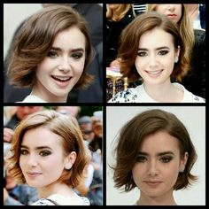 Lily Collins hair short