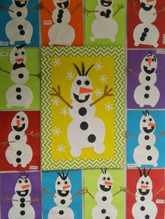 Olaf snowmen art project Bulletin Board from the movie #Frozen.