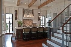 Great beach house in Rosemary Beach, Florida -- kitchen.