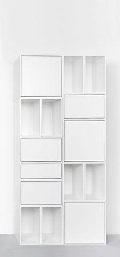 Modern and modular bookcase / Geradliniges Regal aus Regalmodulen