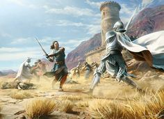 The Tower of Joy: Ned, and his companions face off against Aerys II Targaryen's Kingsguard. In the books, it was 3 members of the Kingsguard: Ser Arthur Dayne aka. The Sword of the Morning, Ser Oswell Whent, and Lord Commander Gerold Hightower aka. The White Bull. With Ned was: Howland Reed, Lord Willam Dustin, Ethan Glover, Martyn Cassel, Theo Wull, and Ser Mark Ryswell. Eddard Stark and Howland Reed were the only survivors. Ned's sister Lyanna Stark was found dying inside the tower. Ned…