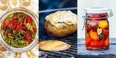 Grillade och rökta tillbehör – 4 recept till grillen | Aftonbladet Salmon Burgers, Ethnic Recipes, Food, Grilling, Essen, Meals, Yemek, Eten