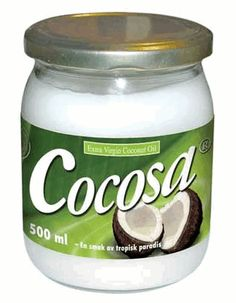 Cocosa coconut oil...tastes and smells HEAVENLY.... <3 (...and is said to have a gazillion helth benefits) ...anyway, it's goooood.... =P