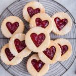 Gluten Free Coconut and Raspberry Linzer Cookies