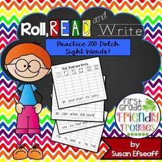 Literacy Center Games - Roll, Read and Write - Dolch Sight Words Kindergarten Lesson Plans, Kindergarten Activities, Enrichment Activities, Kindergarten Teachers, Learning Through Play, Fun Learning, Dolch Sight Words, Fun Math, Literacy Centers