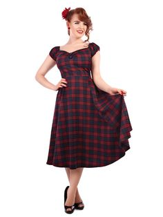 Gorgeous vintage style dresses and vintage style clothing from My Vintage.  Brand New Vintage Style Tai Tartan Dolores Doll Dress