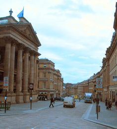 Grey Street Newcastle upon Tyne.  Beautiful example of Georgian architecture.  Gorgeous street and great theatre in foreground