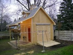 #shed #backyardshed #shedplans Cottage Shed with Porch Plans...I could live there!