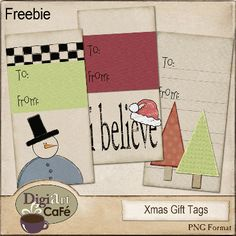 Cute primitive gift tags!  free printable!