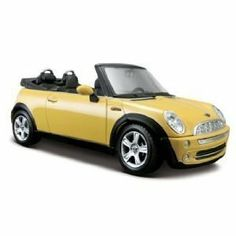 Maisto Mini Cooper Cabrio by Maisto. $17.99. From the Manufacturer                1:24 Special Edition Vehicles.                                    Product Description                Doors OpenHood OpensWheels SteerWheels RollMade of Diecast