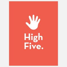 #Poster for #kids to celebrate their achievements. High Five.