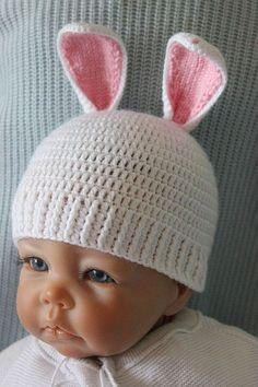 Kostenlose Häkelanleitung für Babymütze Hase