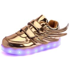 8e9cac44766604 Find More Athletic Shoes Information about Pesonality Novelty Golden Silver  Pink Led Lighting Outdoor Footwear Super