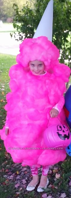 This is my 7 year old daughter she wanted to be her favorite treat for our Halloween day at our campground so I hand made this Pink Cotton Candy costume. Best Kids Costumes, Diy Girls Costumes, Mom Costumes, Candy Costumes, Homemade Costumes, Halloween Costumes For Girls, Halloween Diy, Costume Ideas, Halloween Forum