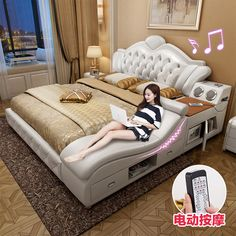 buy Tatami bed Master bedroom leather bed leather bed soft bed bed double bed modern simple and versatile at taobao agent Leather bed Luxury Bedroom Design, Bedroom Bed Design, Bedroom Furniture Design, Bed Furniture, Modern Bedroom, Bedroom Decor, Bedding Master Bedroom, Bedroom Sets, Leather Bed