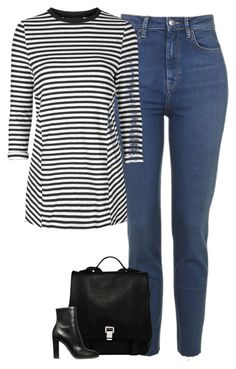 """""""Untitled #6454"""" by fanny483 ❤ liked on Polyvore featuring Topshop and Proenza Schouler"""